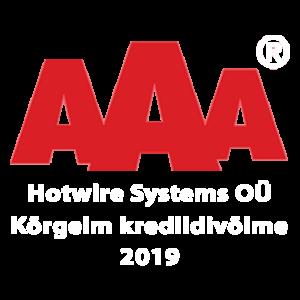 Hotwire Systems OÜ Kõrgeim krediidivõime AAA